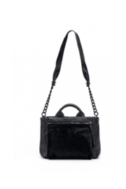 daniella lehavi Alma Satchel With Pony Hair Pocket - Front cropped