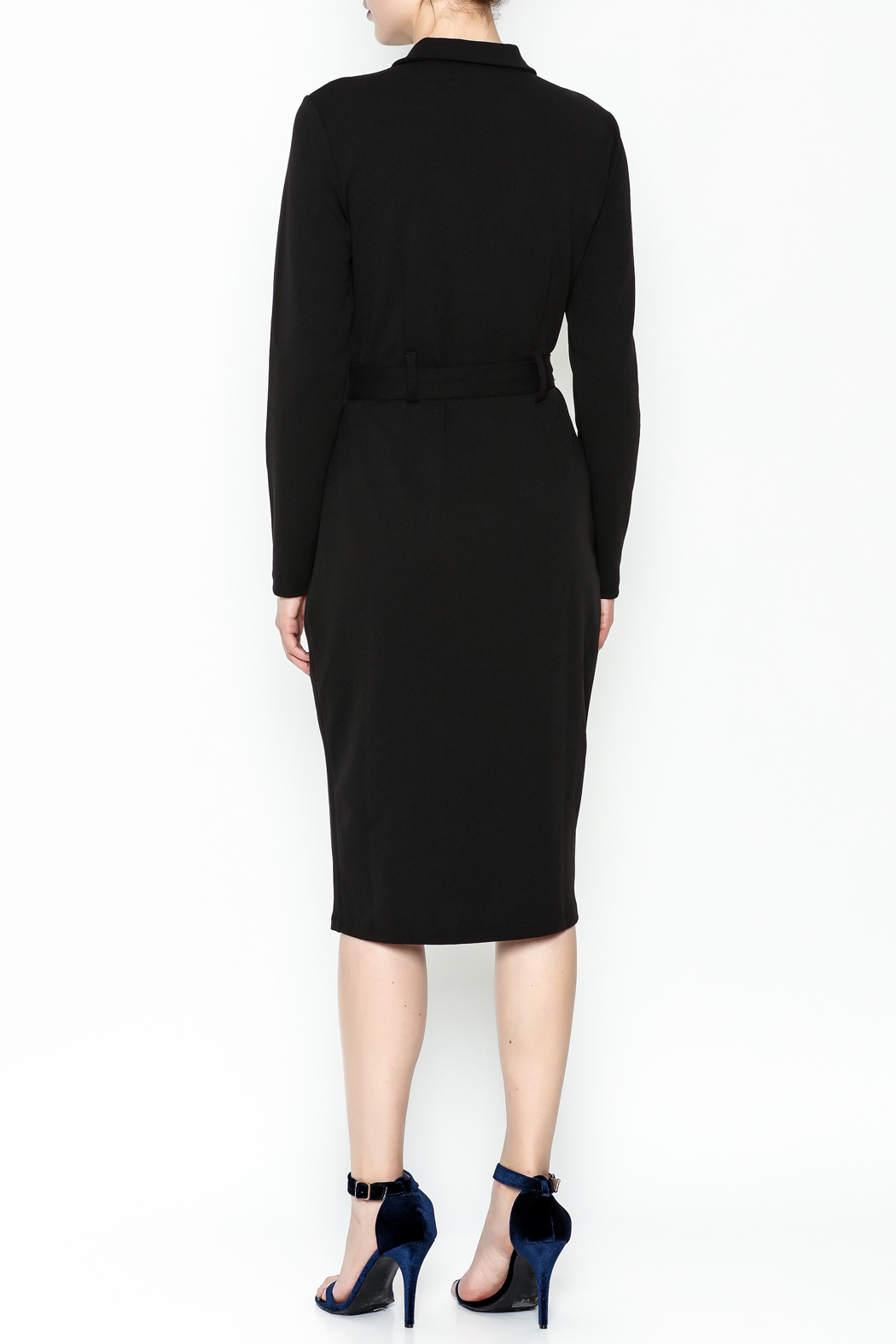 Almatrichi Cremallera Zipped Dress - Back Cropped Image