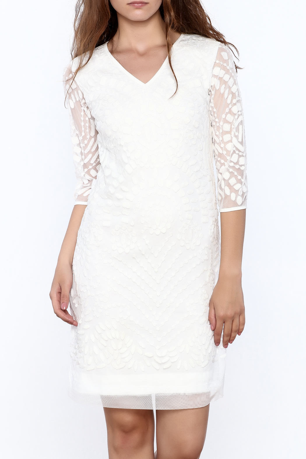 Almatrichi White Lace Dress - Main Image