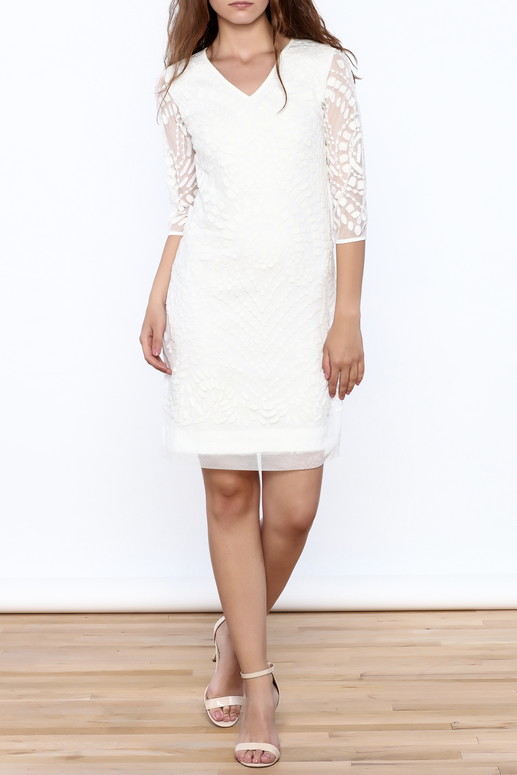 Almatrichi White Lace Dress - Front Full Image