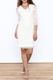 Almatrichi White Lace Dress - Front full body