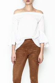 Almatrichi White Orlon Top - Front cropped