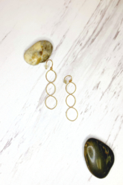 By Philippe Almond Link Earrings Gold Filled - Product Mini Image