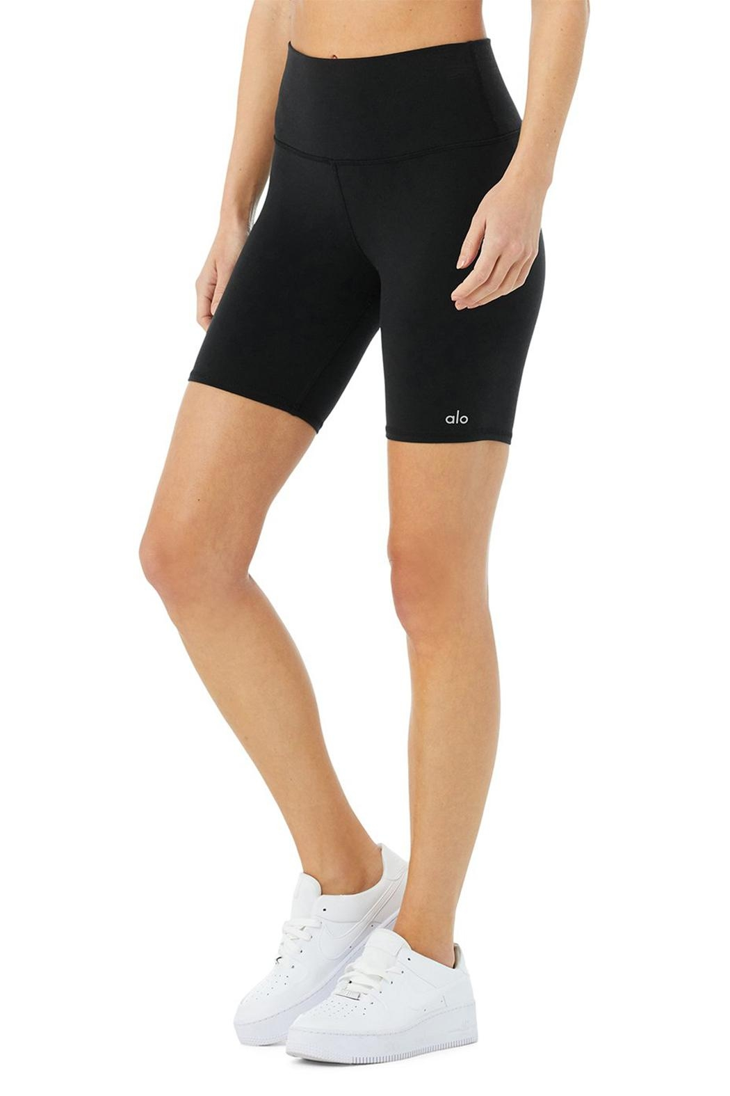 ALO High-Waist Biker Short - Front Full Image
