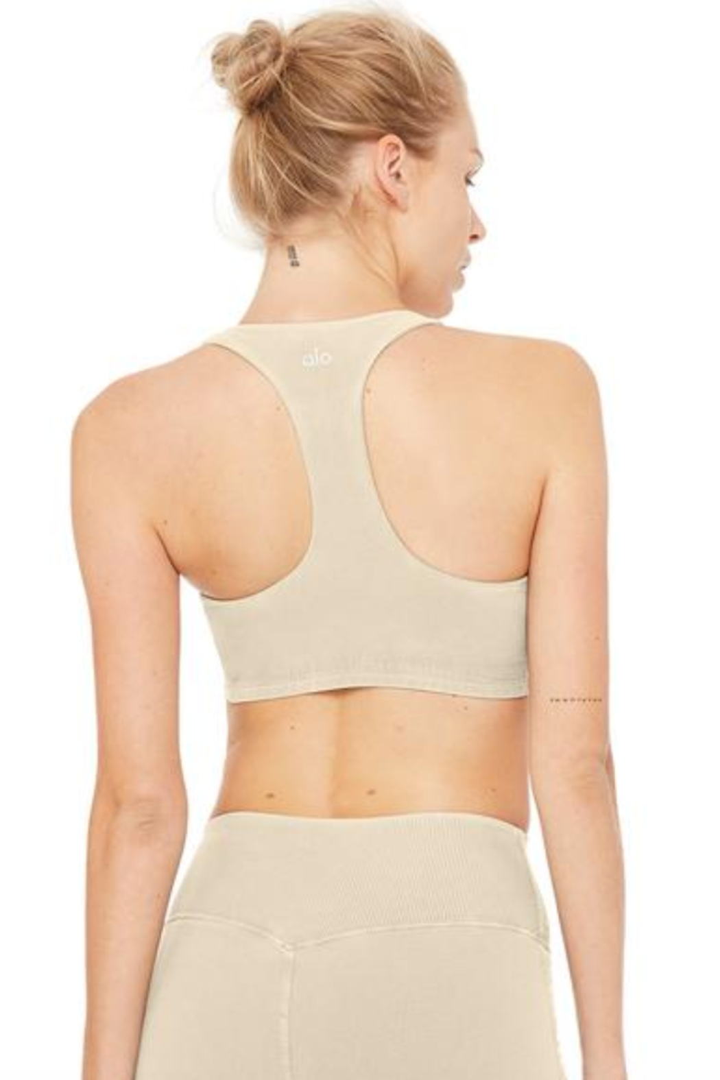 ALO Alo Sueded Base Bra - Side Cropped Image