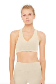 ALO Alo Sueded Base Bra - Front cropped
