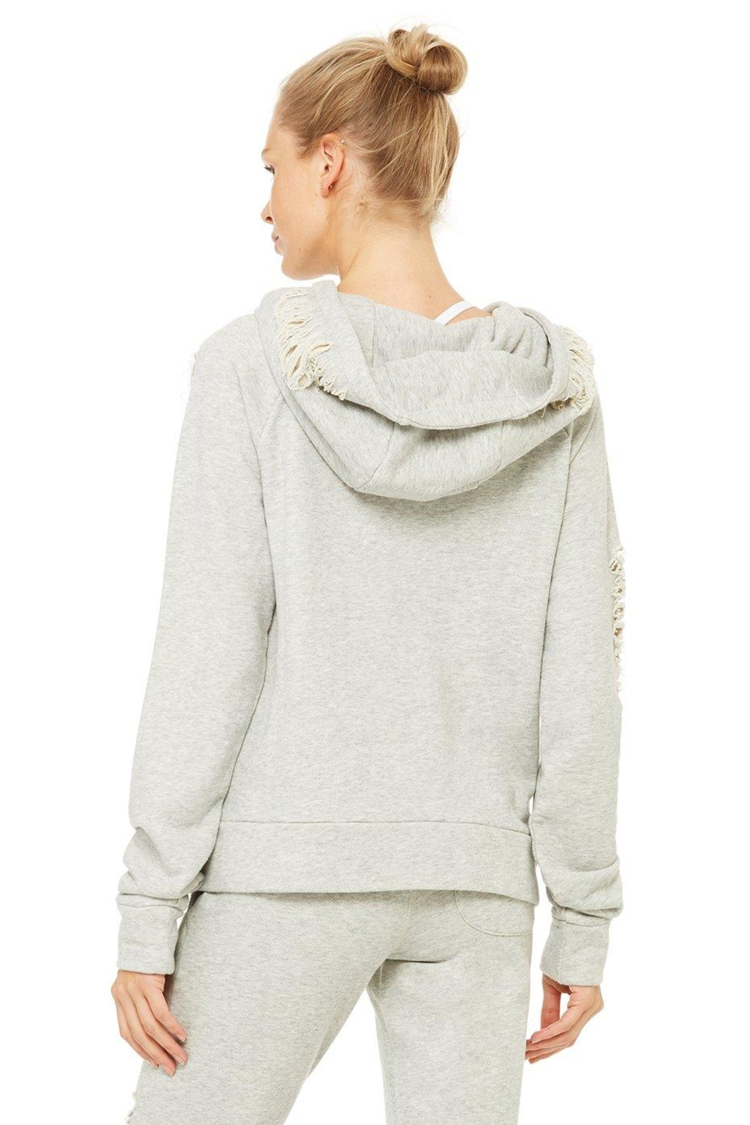 ALO Yoga Distressed Hoodie - Side Cropped Image