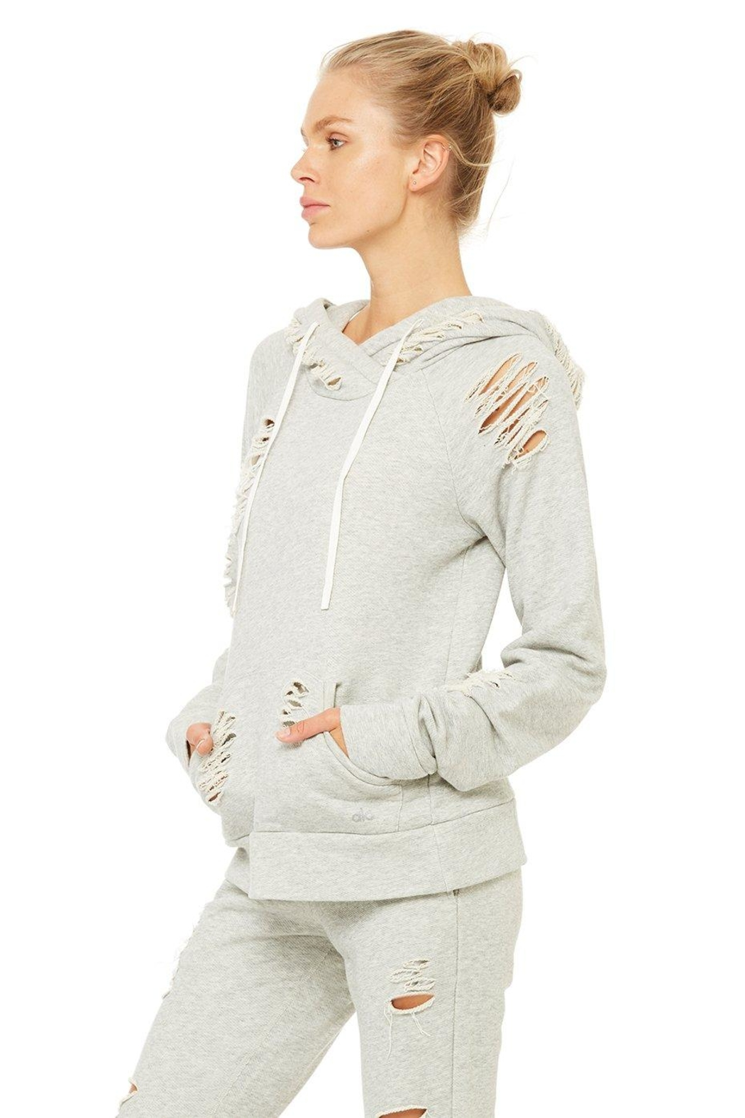 ALO Yoga Distressed Hoodie - Front Full Image