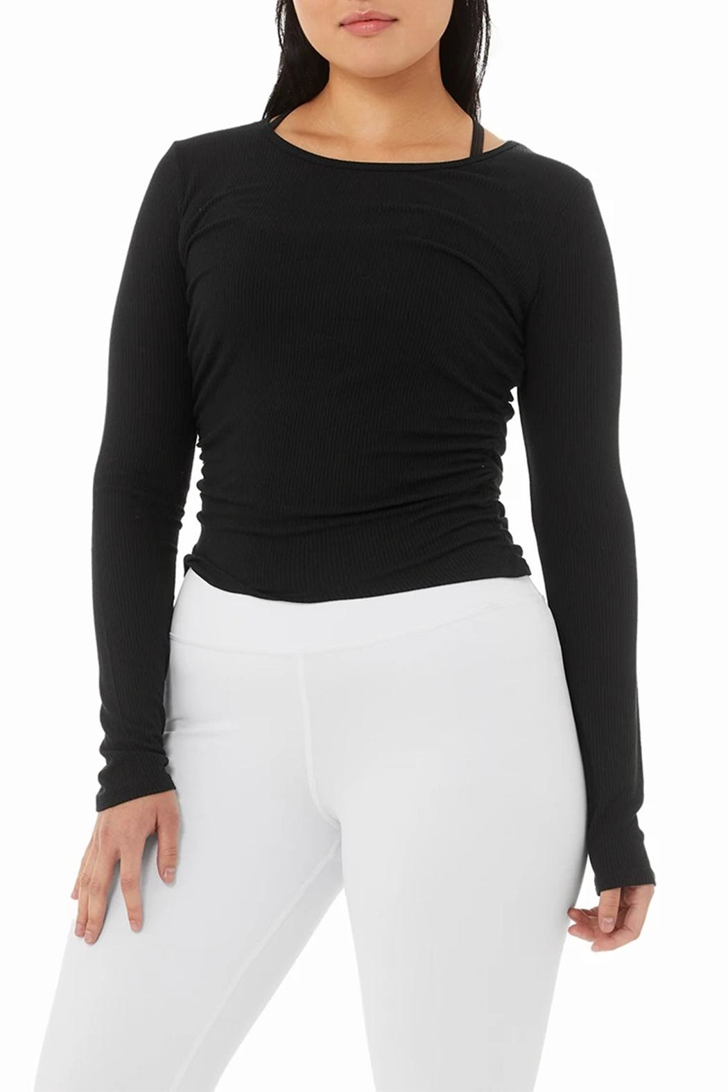 ALO Yoga Gather Long Sleeve - Back Cropped Image