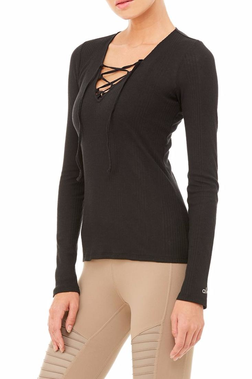 ALO Yoga Interlace Long Sleeve Top - Front Full Image