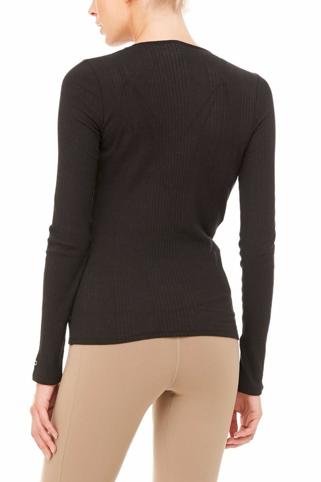 ALO Yoga Interlace Long Sleeve Top - Side Cropped Image