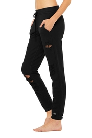ALO Yoga Ripped Sweatpant - Front full body