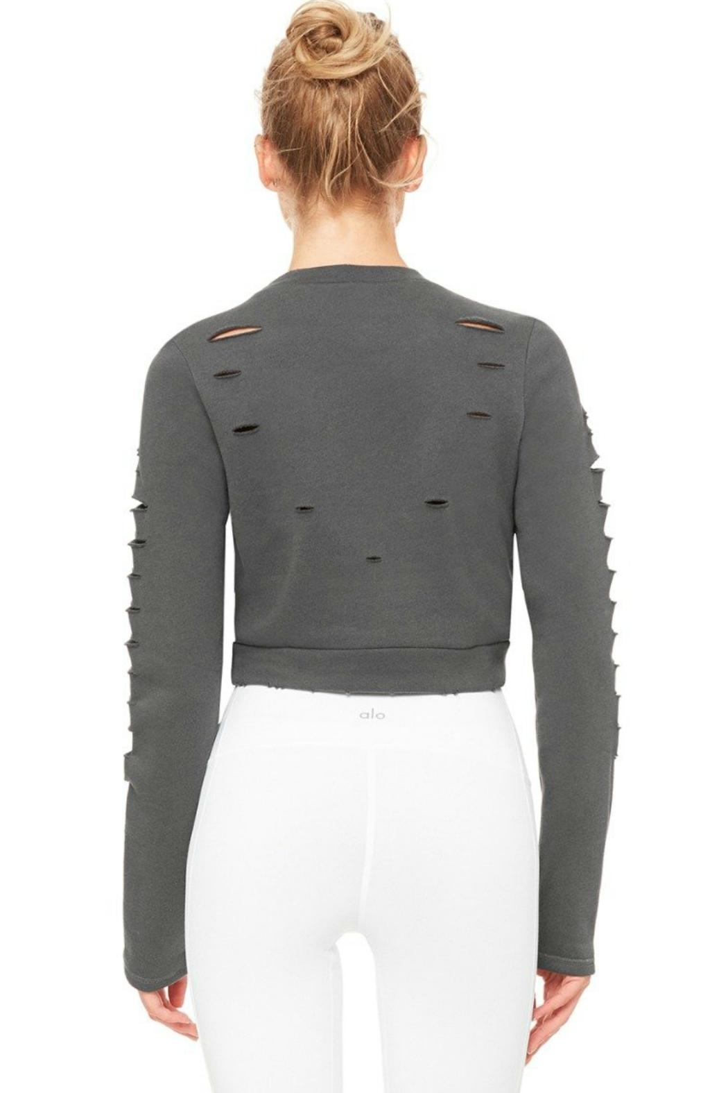 ALO Yoga Ripped Warrior Top - Side Cropped Image