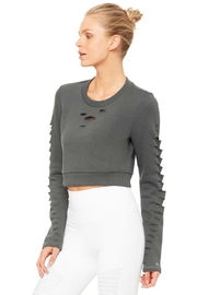 ALO Yoga Ripped Warrior Top - Front full body