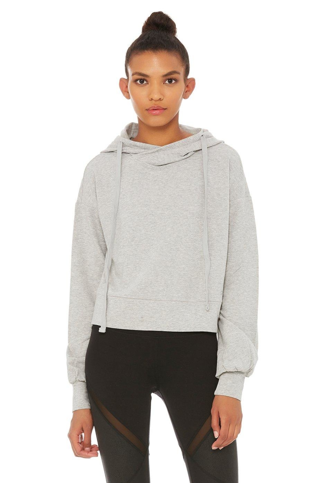 ALO Yoga Social Hooded Top - Front Cropped Image