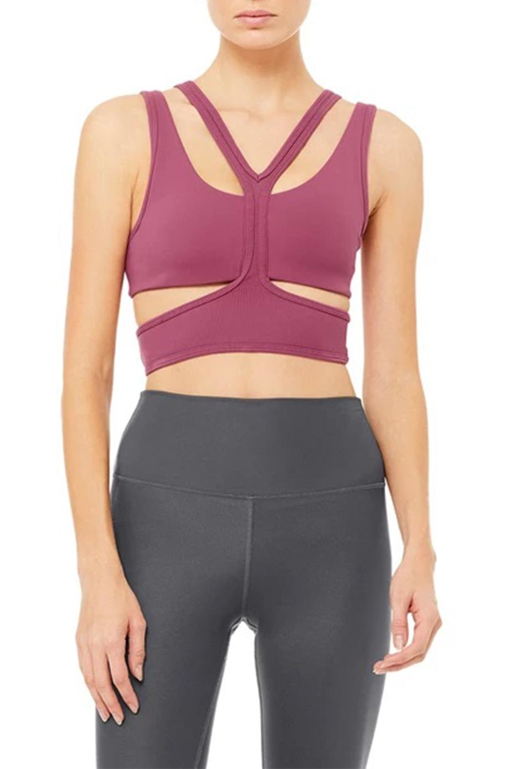 ALO Yoga Trackie Bra - Front Cropped Image