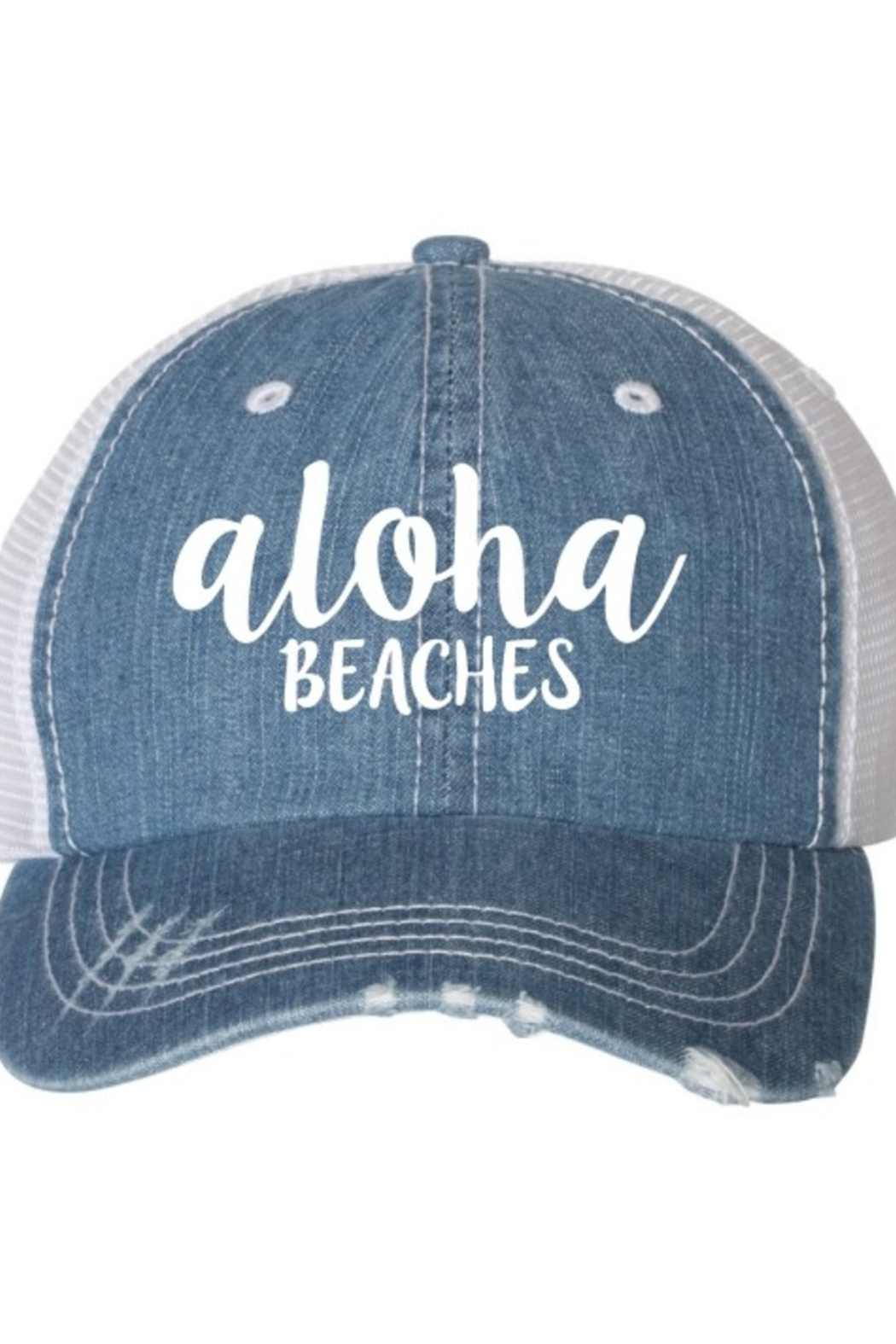 OCEAN & 7TH Aloha Beaches trucker hat - Front Cropped Image