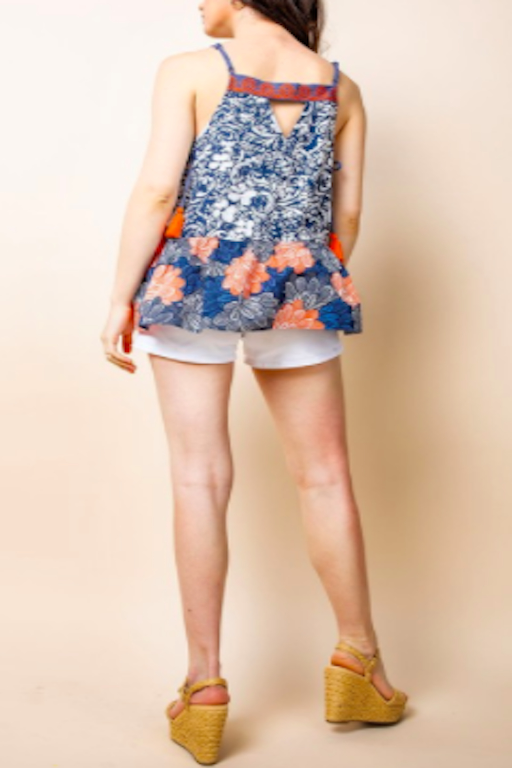 THML Clothing Aloha Embroidered Top - Front Full Image
