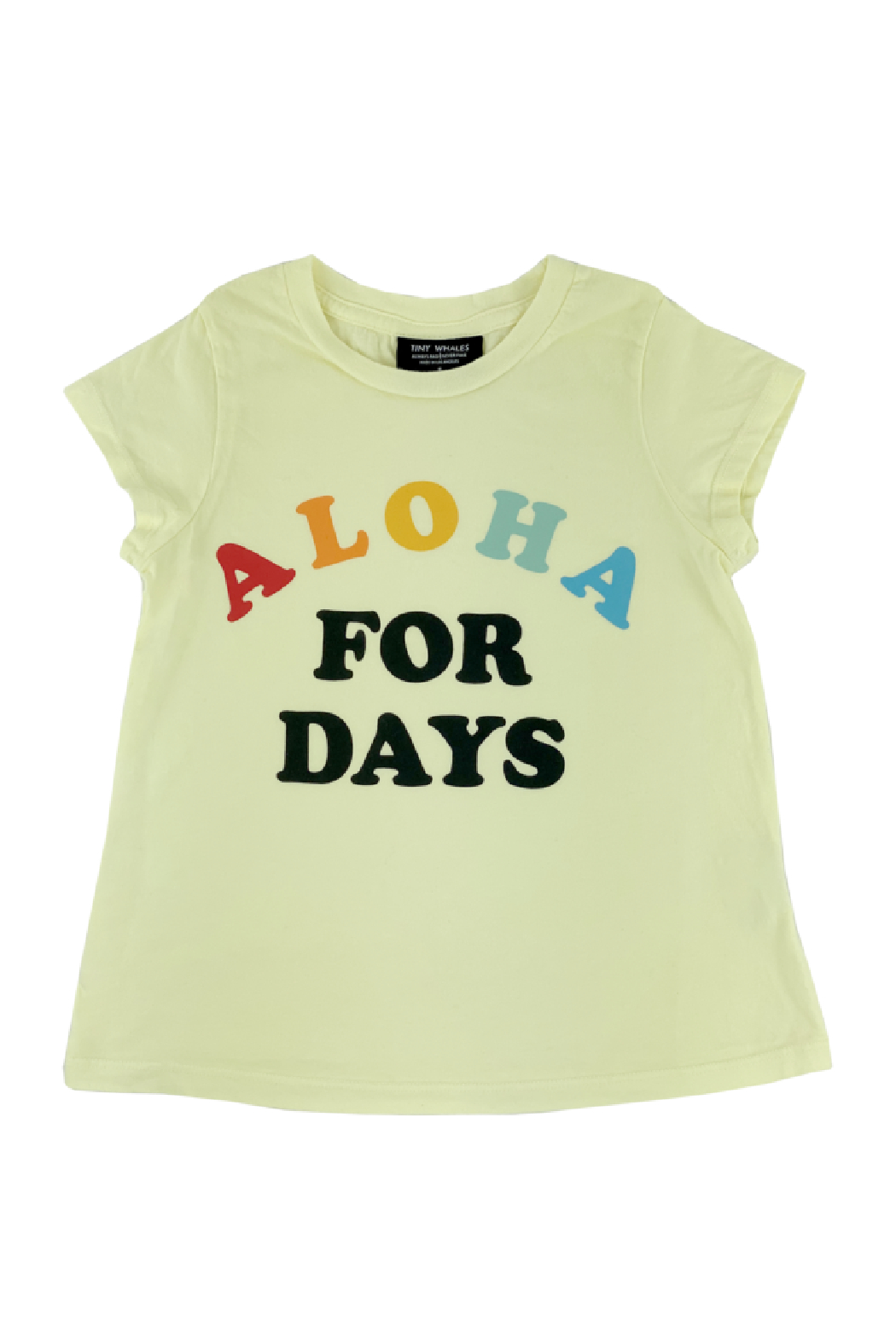 Tiny Whales  Aloha For Days Tee - Front Full Image