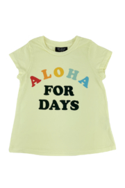 Tiny Whales  Aloha For Days Tee - Front full body
