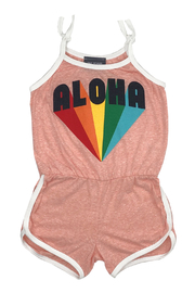 Tiny Whales  Aloha Romper - Front cropped