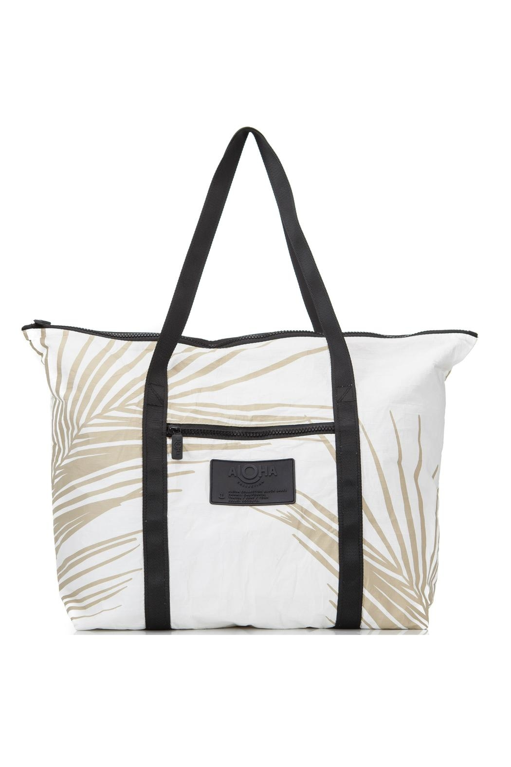 Aloha Collection Harmony Zipper Tote - Front Cropped Image