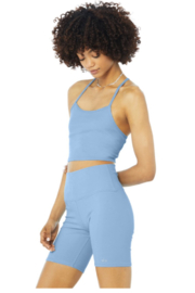 Alo Yoga  Alosoft Ribbed Crop Calm Tank - Front cropped
