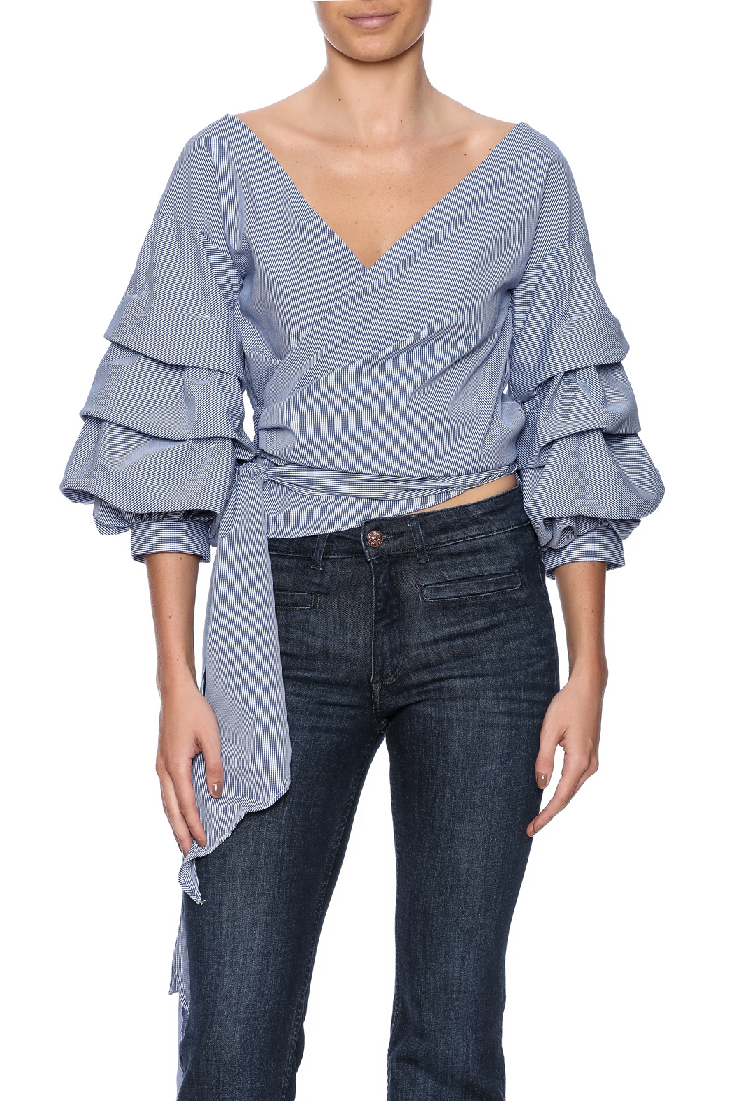 alpha & omega Ruffle Sleeve Top - Main Image