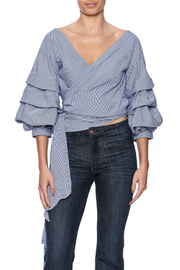 alpha & omega Ruffle Sleeve Top - Front cropped