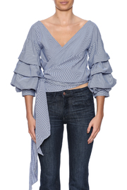 alpha & omega Ruffle Sleeve Top - Side cropped