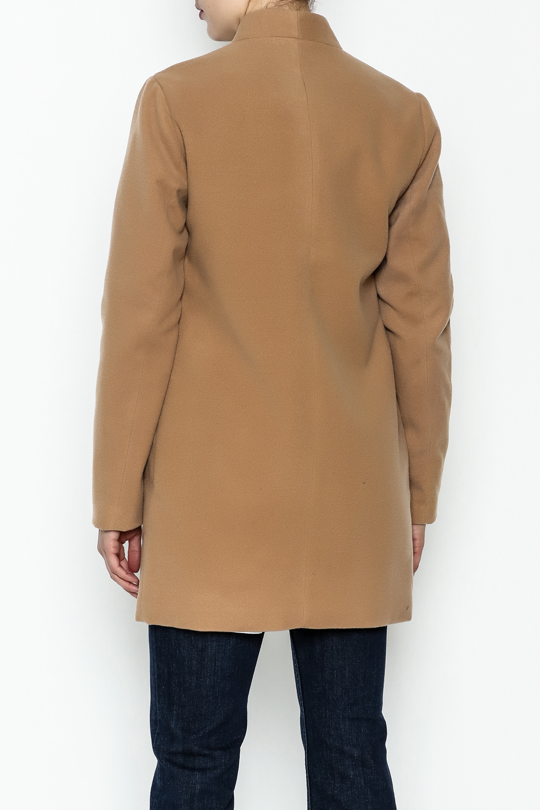 alpha & omega Solid Faux Wool Coat - Back Cropped Image