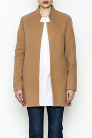 alpha & omega Solid Faux Wool Coat - Front full body