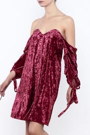 alpha & omega Off Shoulder Velvet Dress - Product Mini Image