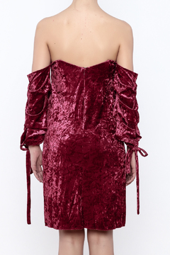 alpha & omega Off Shoulder Velvet Dress - Alternate List Image
