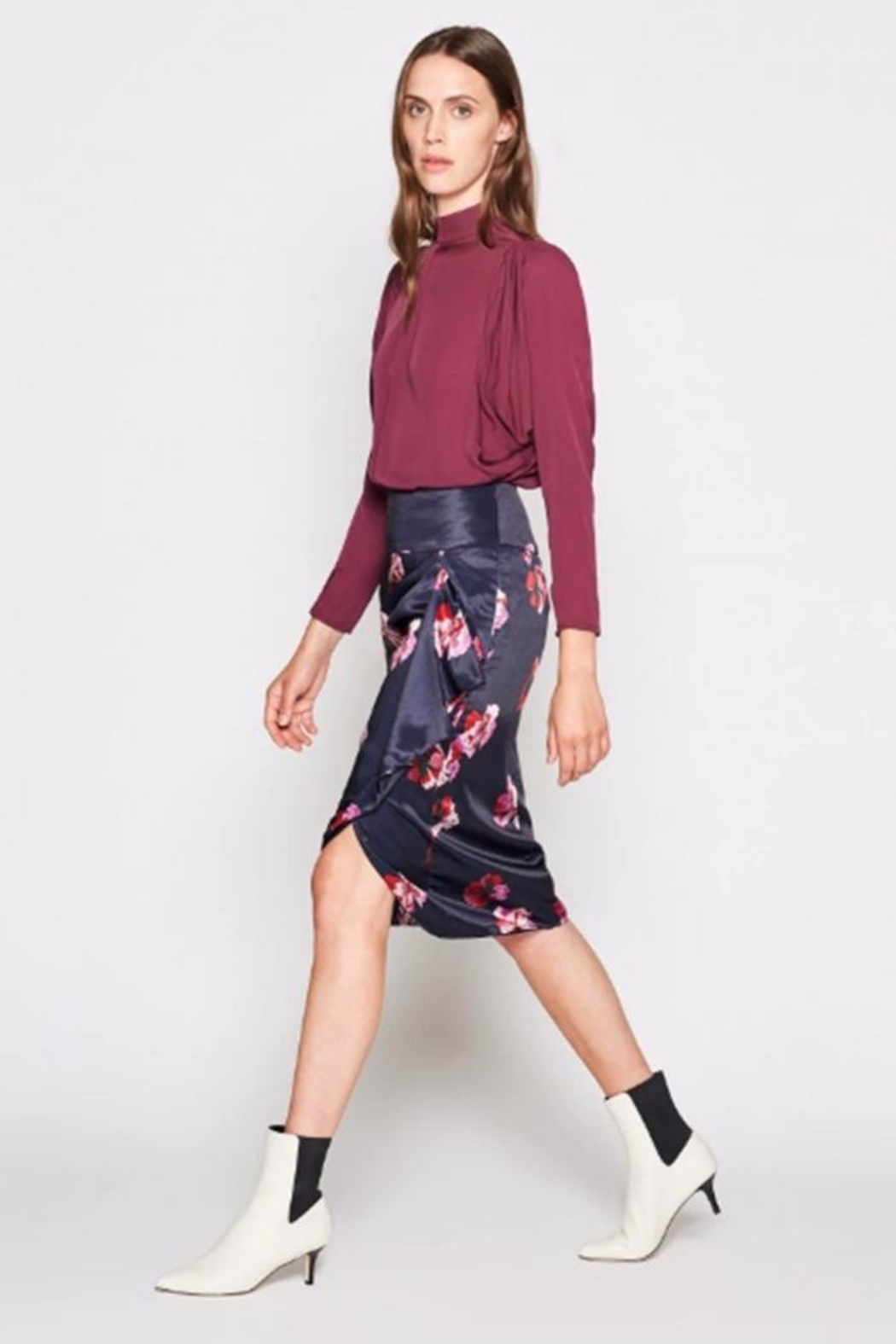 Joie Alphina Printed Skirt - Side Cropped Image