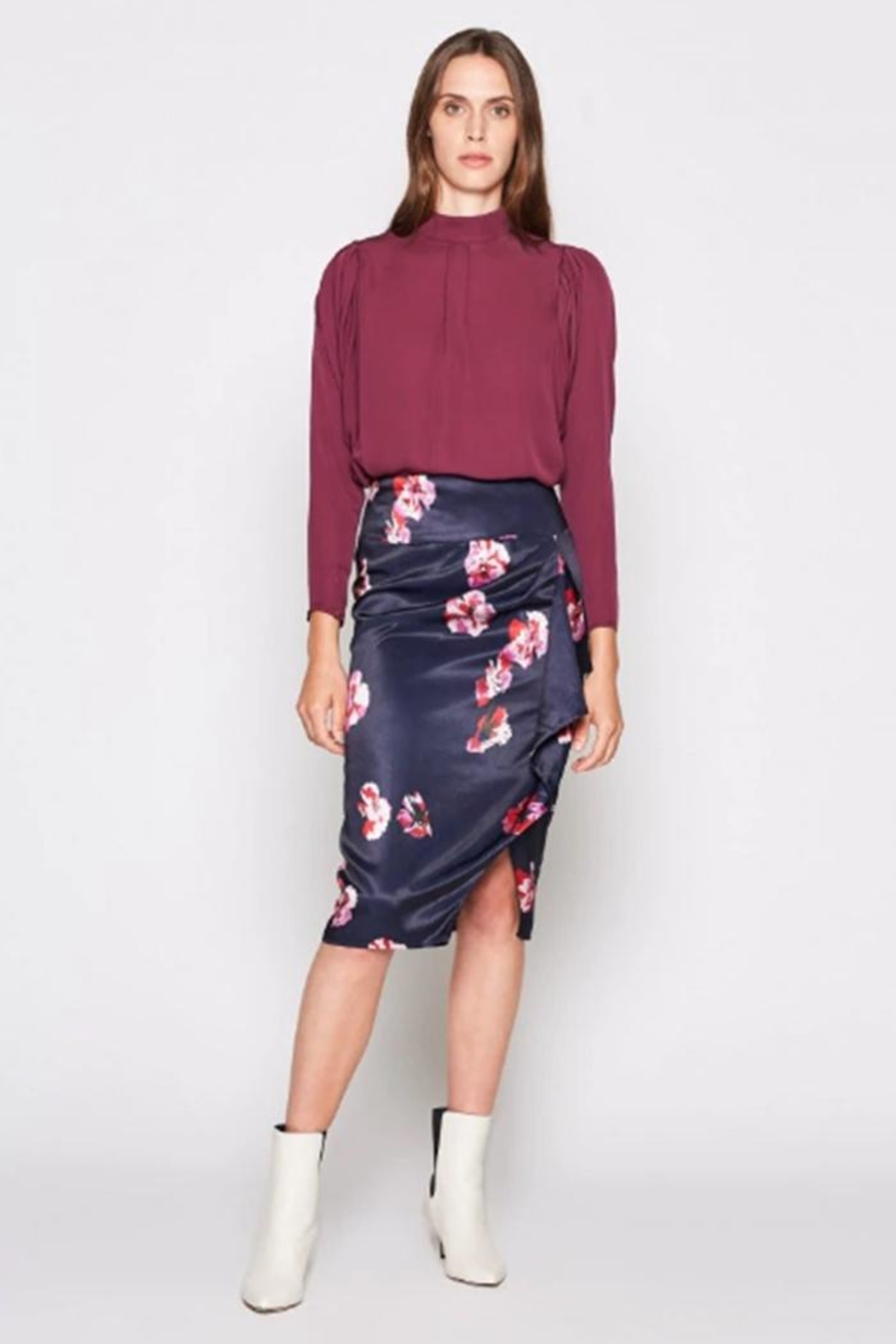 Joie Alphina Printed Skirt - Front Full Image