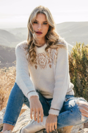Lovestitch Alpine Fuzzy Sweater - Front cropped