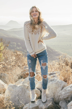Lovestitch  Alpine Metallic Sweater - Product List Image