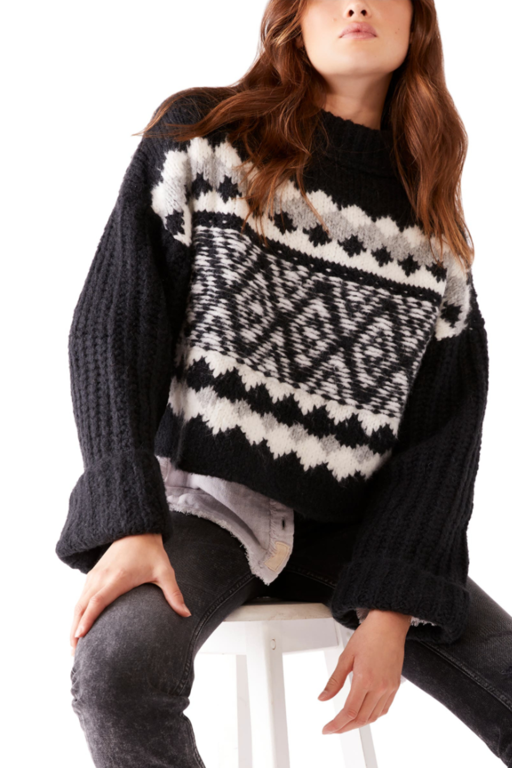 Free People  Alpine Pullover - Front Full Image