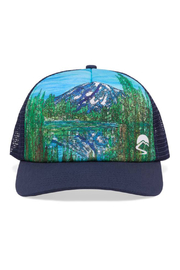 Nyon Alpine Reflections Trucker Hat - Front cropped
