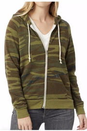 Alternative Apparel Camo Hoodie - Front full body