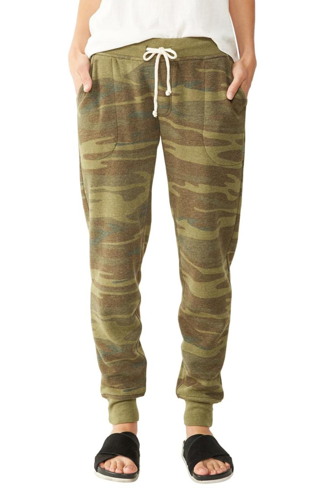 Alternative Apparel Camoflauge Joggers - Front Cropped Image