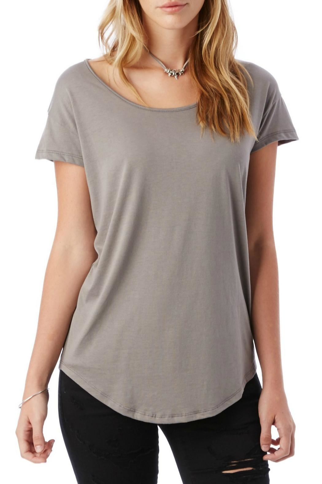 Alternative Apparel Classic Scoop Tee - Front Cropped Image