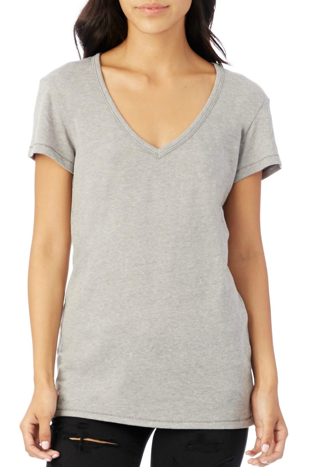 Alternative Apparel Classic V-Neck Tee - Front Cropped Image