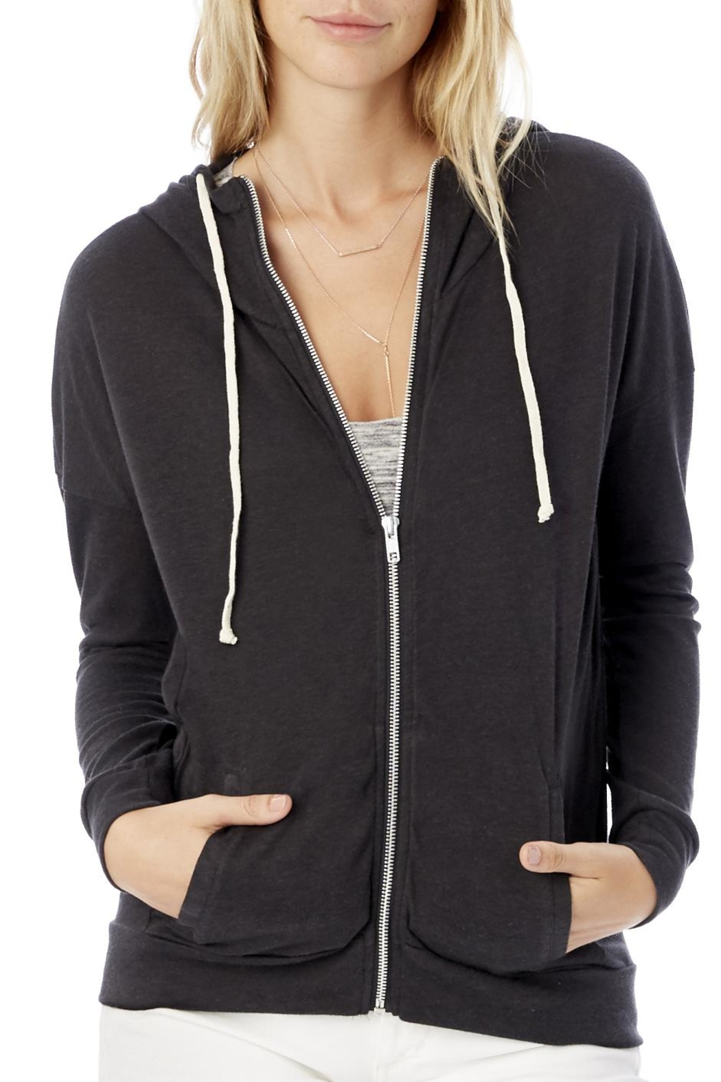 Alternative Apparel Cool Down Zip Hoodie - Front Cropped Image