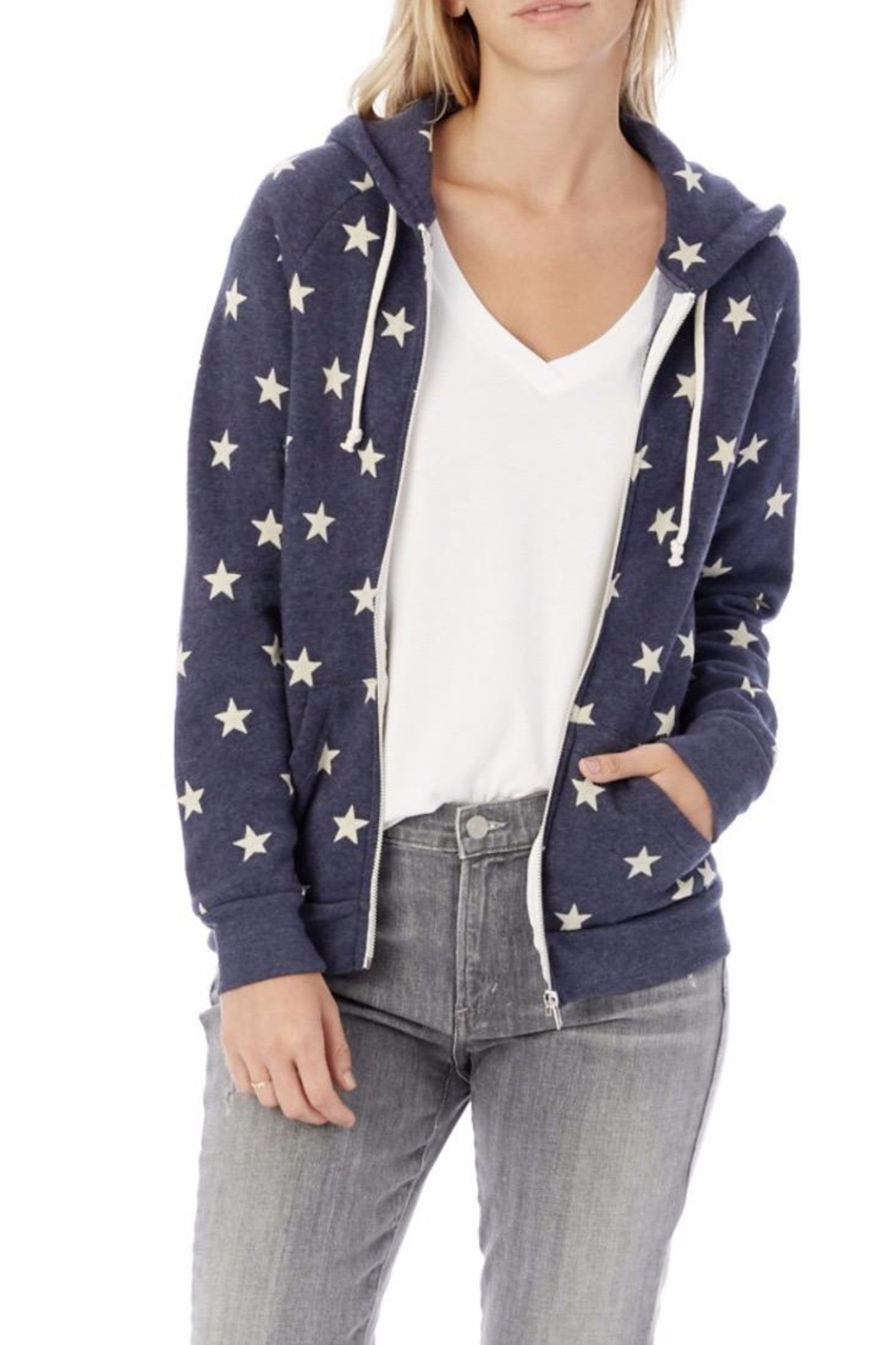 Alternative Apparel Star Hoodie - Front Cropped Image