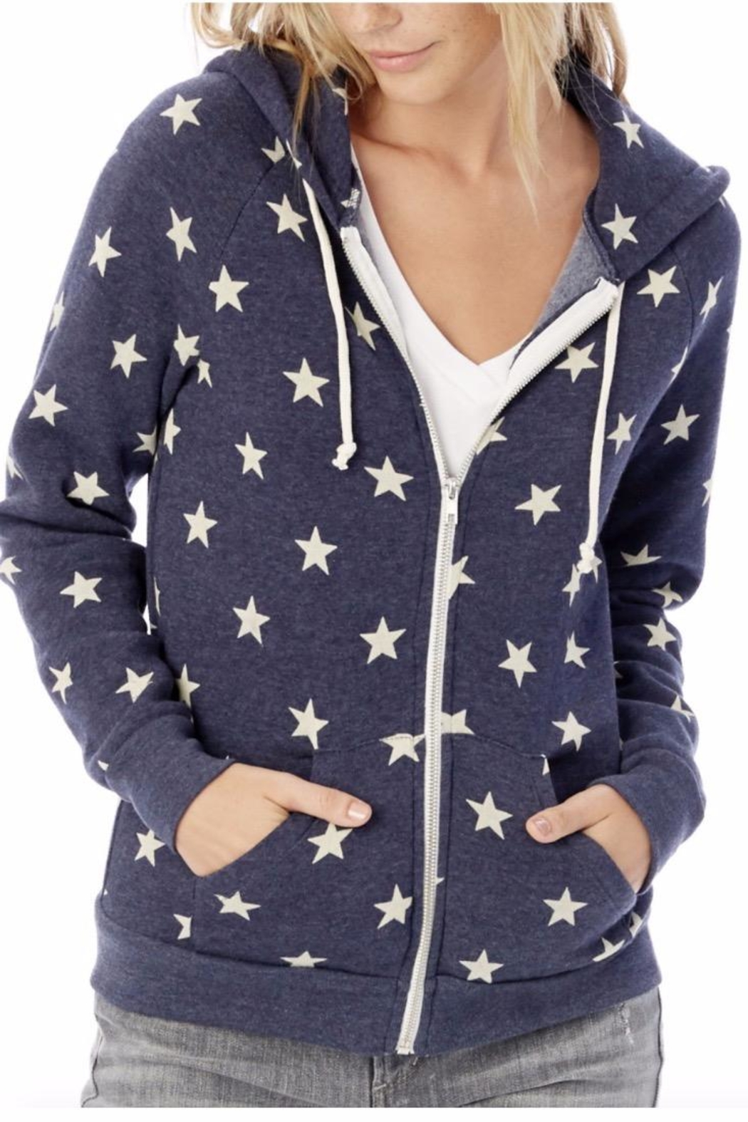 Alternative Apparel Star Hoodie - Front Full Image