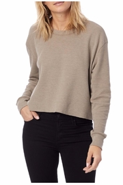 Alternative Apparel Tan Cropped Thermal - Product Mini Image
