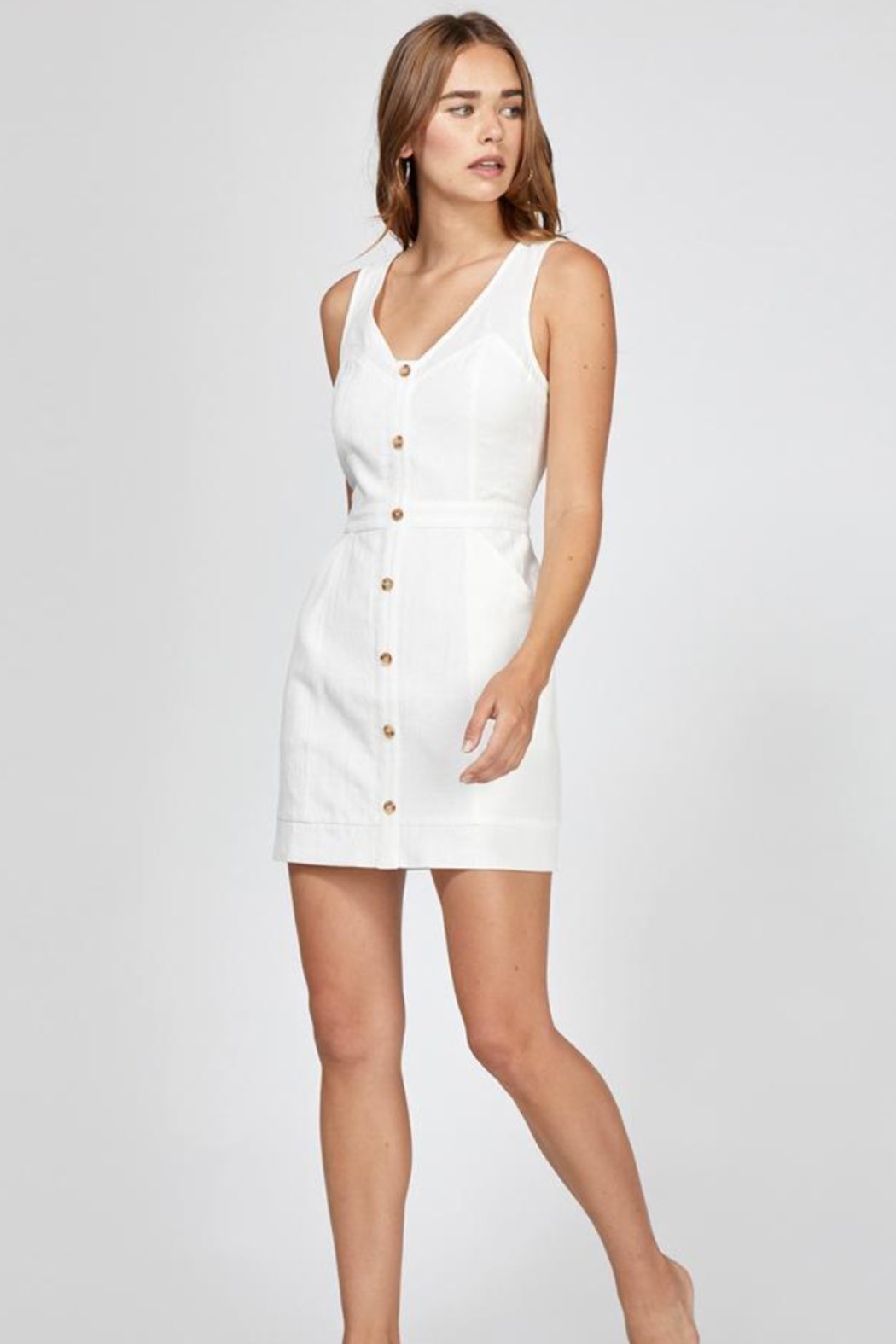 Greylin Althea Button Up Dress - Front Full Image