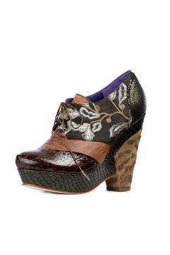 Shoptiques Product: Brown Ankle-Laced Bootie